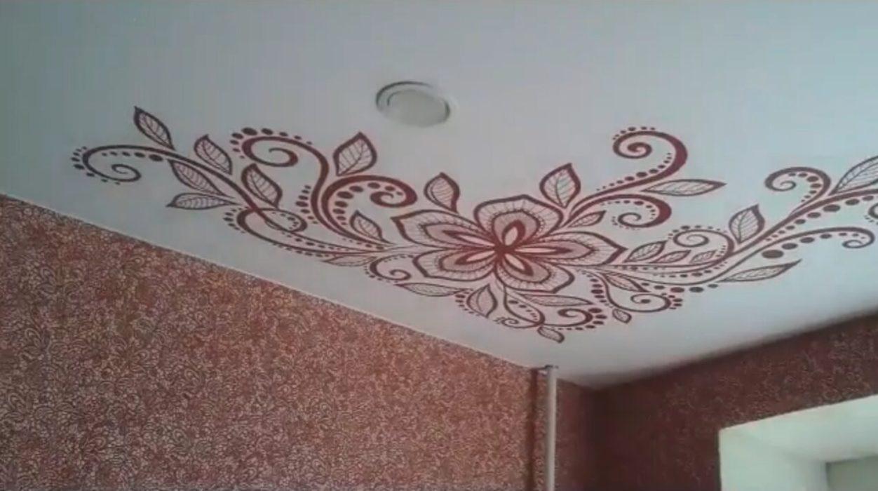 натяжные потолки фото с рисунком кстово тыловых подразделений
