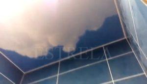 Натяжные потолки с фотопечатью в ванную комнату