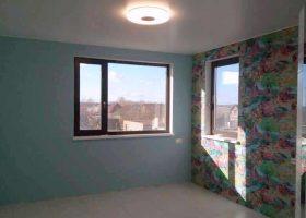 Фото сатиновый натяжной потолок