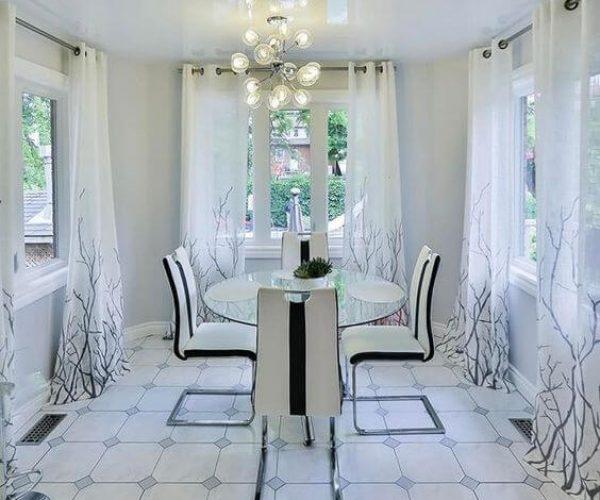 Фото натяжные потолки глянцевые на кухне